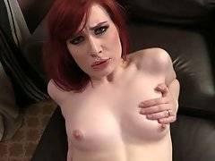 Redhead Slutie Welcomes Black Rod Inside Her Hole 3