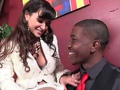 Lady Boss Lisa Ann Seduces Black Applicant Isiah 1
