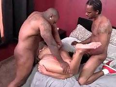 Nasty Candi Coxx gladly welcome massive black cock inside her butt hole.