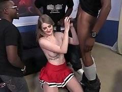 Four Black Guys Attack Lovely White Girl 1