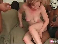 Babe Pleases Two Black Men With Giant Dongs 2