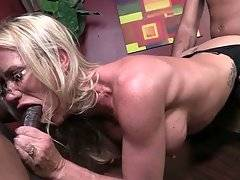 Two Black Guys Are Sharing Pretty White Milf 3