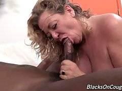 Old White Hooker Enjoys Massive Black Dick 2