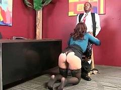 Lady Boss Charlee Chase Interviews Black Guy 3