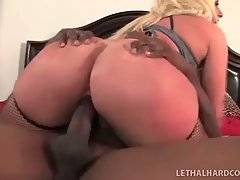 Breasted Booty White Lady Pleases Black Dude 1