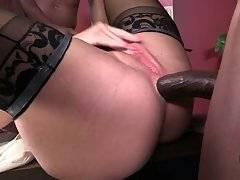 Slutty Mature Blonde Enjoys Two Black Dicks 2