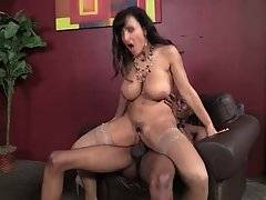 Incredibly sexy milf Lisa Ann adores good hard fucking with black guy.